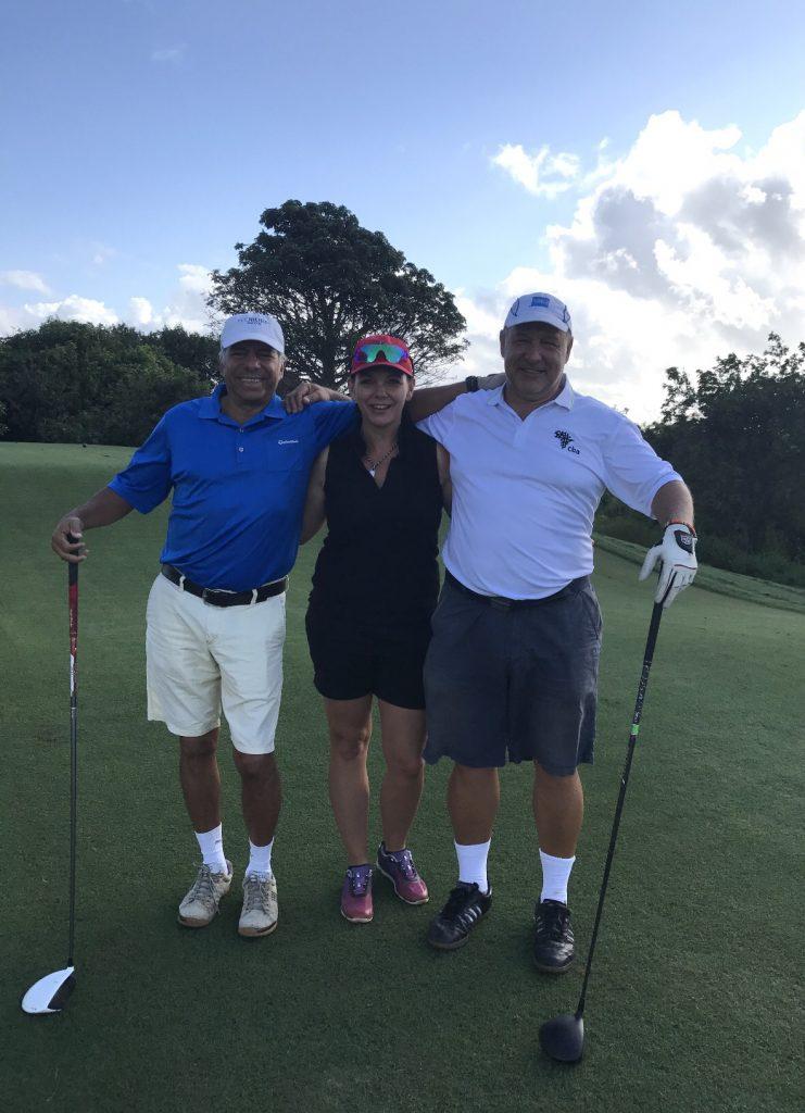 Golffreunde Olaf und Giancarlo
