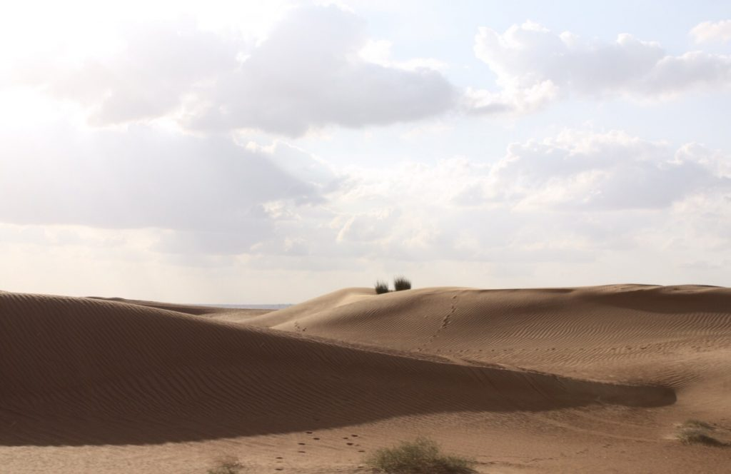 auf Exkursion im Jeep durch die Wüste Dubais